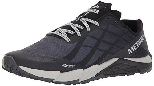 Merrell Men's Bare Access Flex Trail Runner, Black/Silver, 10 M US