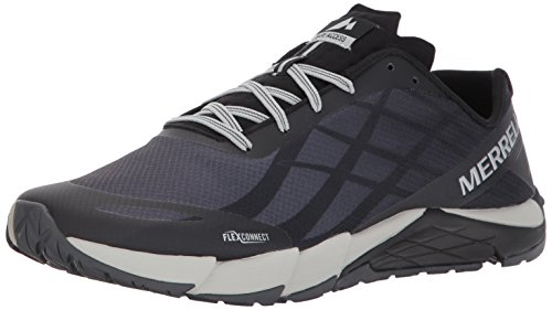 Merrell Men's Bare Access Flex Trail Runner, Black/Silver, 10 M US