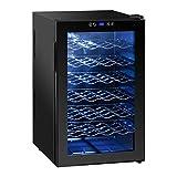 Royal Catering Weinkühlschrank Getränkekühlschrank RCWI-70L (130 W, 6 Einlagen, 70L, 11-18 °C, Stahlgehäuse, doppelverglaste Tür) Schwarz - 5