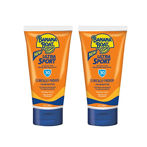 Banana Boat Ultra Sport Reef Friendly Sunscreen Lotion, Broad Spectrum SPF 30, 3 Ounces TSA Approved - Pack of 2-$5.98