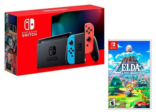 Nintendo Switch Rouge/Bleu Néon 32Go [nouveau modèle] + Zelda: Link's Awakening