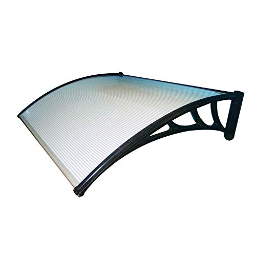 Senza Marca Pensilina tettoia Trasparente 120x100 cm in policarbonato modulabile 1903