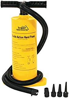 Texsport Double Action Hand Pump for Air Mattress , Yellow , 67 x 28.5 x 11.8
