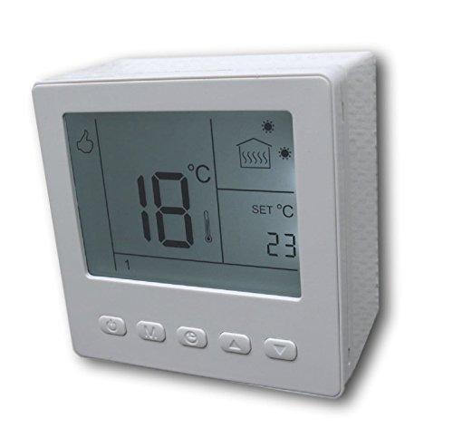 SM-PC®, Digital Raumthermostat Thermostat programmierbar weiß AUFPUTZ #ap857