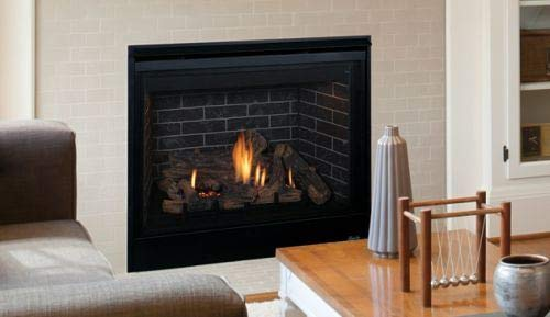 Why Should You Buy 45'' Direct-Vent Fireplace w/Charred Oak Logs and Blackstone Liner - LP