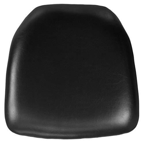Flash Furniture Hard Black Vinyl Chiavari Chair Cushion