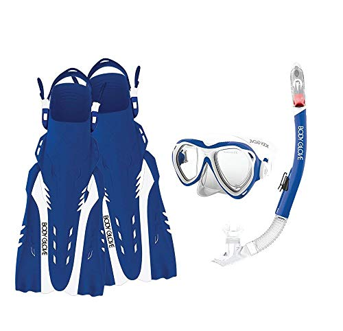 Body Glove Aruba Women's Complete Mask Snorkel and Fin Set, with GoPro Hero 2,3,3+ or 4 Camera Mount-17043 Set