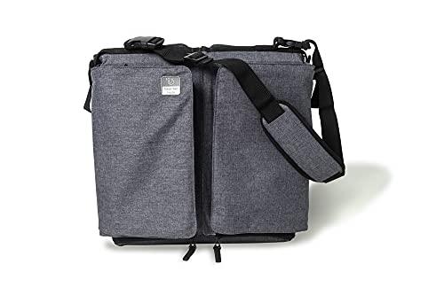 Doomoo Basics – Baby Travel Wickeltasche mit Bettfunktion – Praktische Funktionen für Ausflüge mit Baby – 2 in 1 Wickeltasche lässt sich zum Bett umfunktionieren – 4 Fächer mit Einem Isolierfach