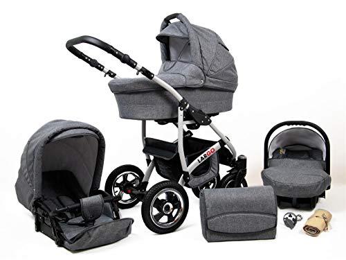 Cochecito de bebe 3 en 1 2 en 1 Trio Isofix silla de paseo New L-Go by SaintBaby GreyFlex 3in1 con Silla de coche