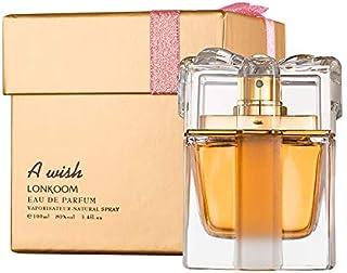LONKOOM HALAL Perfume EDP for Women Eau De Parfum Sweet-Fruity Fragrance For Women Antibacterial Spray A WISH GOLD 100ml