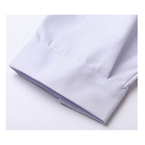 Langärmelige kurze abschnitt kittel ärzte krankenschwestern bekleidung arbeitskleidung arbeit (männer, XXXL) - 5
