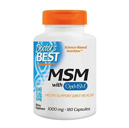 Doctor's Best MSM with OptiMSM 180 vegane Tabletten glutenfrei sojafrei, 1000 mg