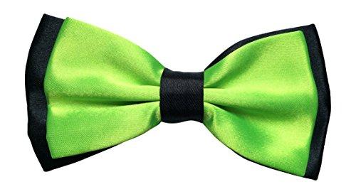 Sock Snob Satin pour homme vert fluo luxury réglable & pIE (vert/noir)