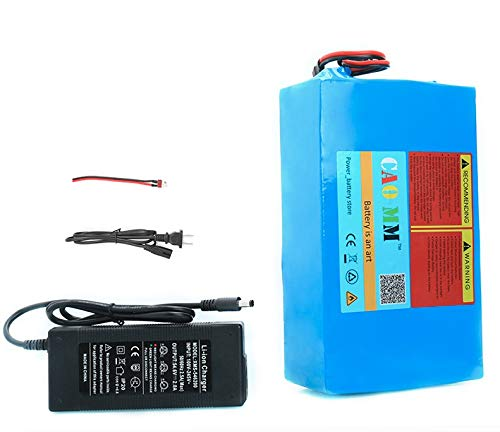 48V Lithium Battery Pack ebike 20AH Li ion Battery 20000mAh for 750W 1000W 1200W Motor Electric Bicycle Bike Scooter Golf Cart with Charger 30A BMS