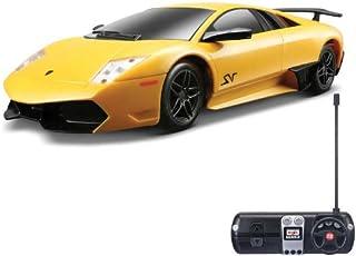 لعبة سيارة لامبورجيني بريموت كنترول للاولاد من مايستو، مقياس 1-24 - اصفر