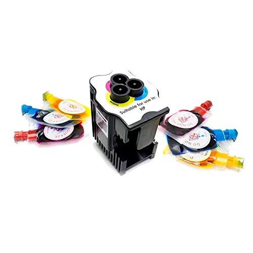 Kit de Recarga para Impresoras HP 300 / 300XL / 301 / 301XL / 302XL / 304XL / 901 / 901XL · Incluye 1 Estación de Recarga + 6 Recargas de Color (2 Cyan x 6 ml) (2 Magenta x 6 ml) (2 Amarillo x 6 ml)