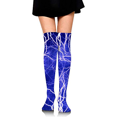 Uridy Calcetines de tubo hasta la rodilla Lindas impresiones eléctricas sobre el...
