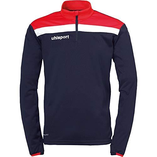 uhlsport Herren Offense 23 1/4 Zip TOP Fussball Trainingsbekleidung, schwarz/Anthra/limonengel, 128
