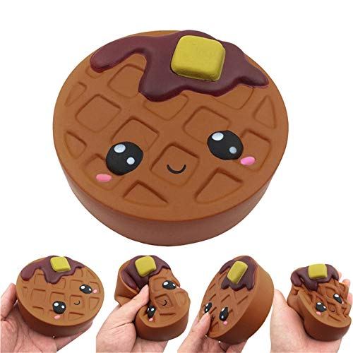 Boomli Pop it Fidget Toys Cute and Soft Cartoon Chocolates Biscuits Charm Slow Rising Stress Reliever Toys Popit Scarf Juguetes sensoriales