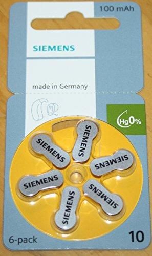 Hörgerätebatterien Siemens S 10 1 Päckchen (6 Batterien)