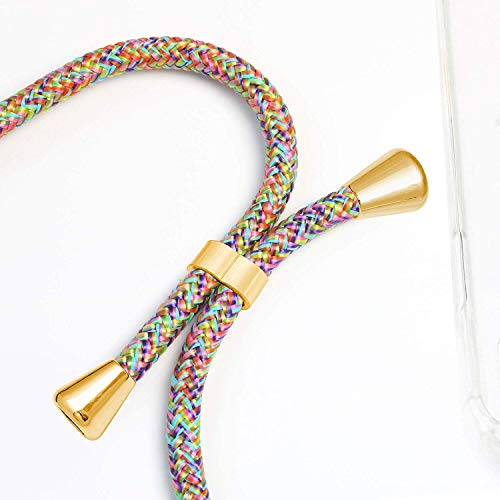 TUUT Handykette kompatibel mit Huawei Nova 5T/Honor 20 Handy-Kette Handy Hülle mit Kordel zum Umhängen Handyanhänger Halsband Lanyard Case/Handy Band Necklace [Stoßfest] - Rainbow - 2