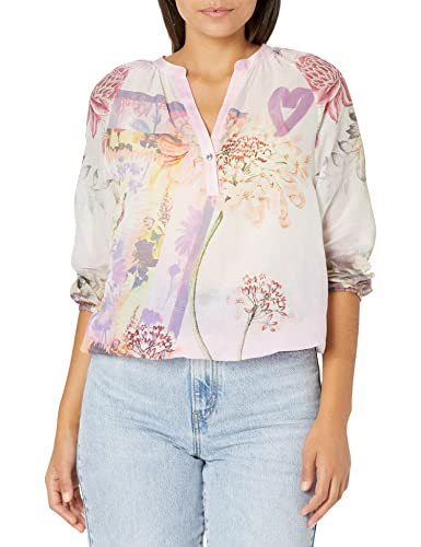 Luftige Bluse mit Blumen-Print