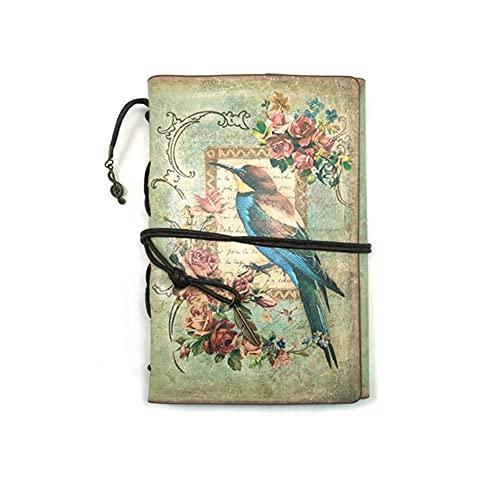 HBNNBV Diario Papelería Vintage PU Cuero Cuaderno Creativo Kraft Papel Planificador Sketchbook Agenda Diario Cuadernos Suave Forrado (Color : E A6, tamaño : A6)