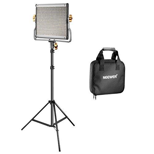 Neewer Video Luce 480 LED Bicolore Dimmerabile & Cavalletto: Faretto LED 3200-5600K CRI 96+ con Staffa-U & 190cm Cavalletto per YouTube Fotografia Registrazioni Video in Studio