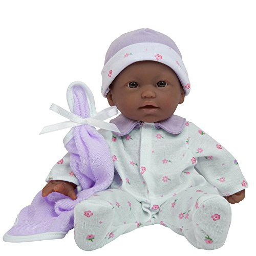 JC Toys, La Baby 11-inch African American Washable Soft Body Play Doll For Children 12 Months and older, Designed by Berenguer