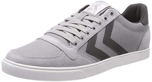 hummel Unisex-Erwachsene Slimmer Stadil Canvas Low Sneaker, Grau (Alloy 1100), 36 EU
