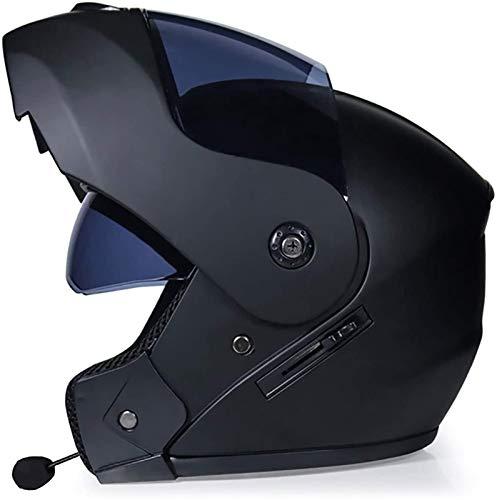 Allround Helmets Bluetooth De La Motocicleta Casco, De Tipo Modular De Doble Volteo Visera del Casco Completo,ECE Homologado Modular De Cara Completa Abatible Casco De Moto con Doble Visera E,L