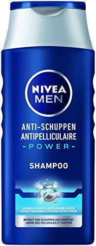 NIVEA MEN Anti-Schuppen Power Shampoo (250 ml), effektives Haarshampoo mit Bambus-Extrakt, Pflegeshampoo befreit bis zu 100 % von sichtbaren Schuppen