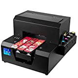 Automatic LED UV Inkjet Printer, A4 Logo DIY Flatbed Digital Printer for Variety of Materials Like PC, PVC, Plastic,Acrylic, Ceramic, Wood,Glass, Metal,Phone Cases. (Black)