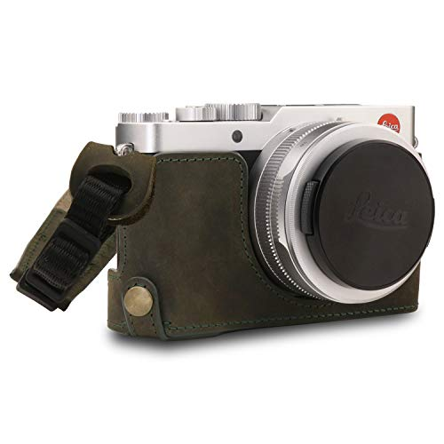 MegaGear MG1694 Ever Ready - Funda de Piel para cámara Leica D-Lux 7, Color Verde