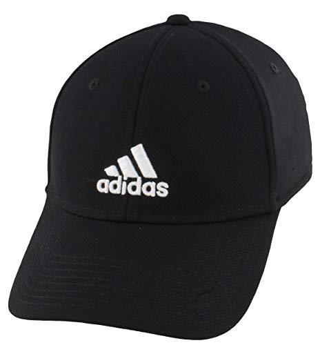 Adidas Rucker Gorra de Ajuste elástico para Hombre, Negro/Blanco, Grande/Extra Grande