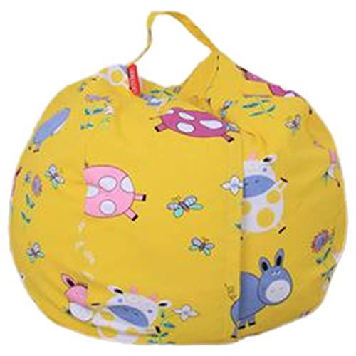 Canghai 96,5 cm extra großes Plüschtier-Aufbewahrungs-Sitzsack-Organizer, 90+ Teddy-Plüschspielzeug-Halter und Organizer für Mädchen, 100% Baumwoll-Segeltuch (G)