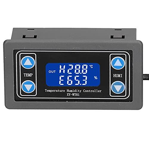 Jeffergarden Regolatore di Temperatura e umidità, Indicatore LCD Digitale del Regolatore di Temperatura e umidità XY-WTH1 per L'allevamento di Incubazione in Serra