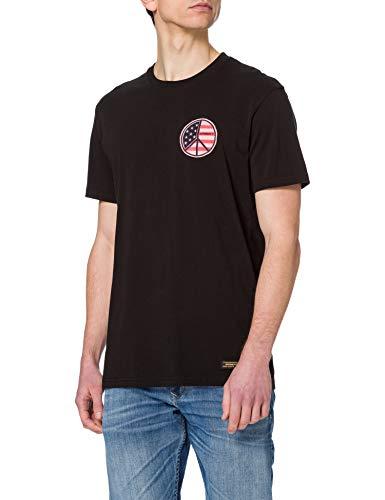 Superdry M1011013A T-Shirt, Noir, 2XL Homme