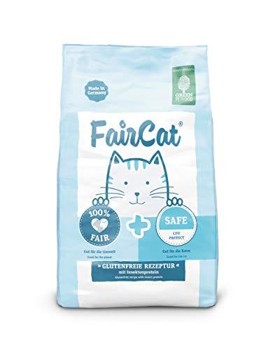 Green Petfood Faircat Safe - glutenfreie Rezeptur mit Insektenprotein - 7,5 kg Katzenfutter Trocken