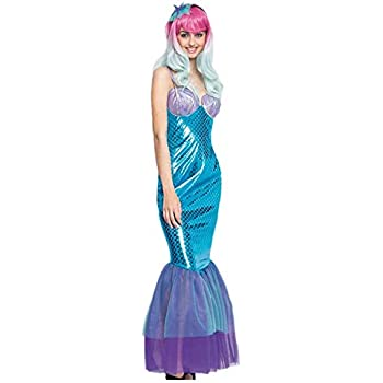 Disfraz Sirena Blue Mermaid Mujer (Talla M) (+ Tallas) Carnaval ...