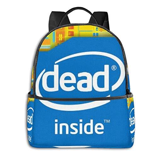 Intel Inside Meme Pullover Hoodie Student School Bag School Bag Ciclismo Ocio Viajes Camping Mochila al aire libre