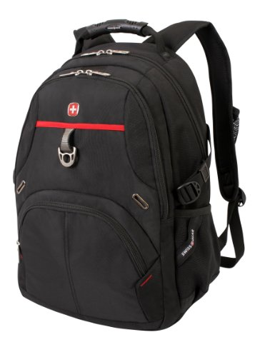 Swiss Gear SA3183 Black with Red Laptop Backpack - Fits Most 15 Inch Laptops and Tablets