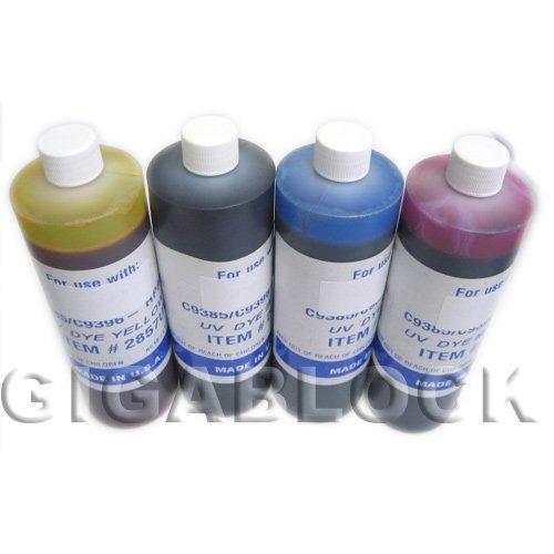 Gigablock UV Dye Based 4 Bulk Pint(470ml) Inks of Refill Ink Set for CIS System Epson Stylus C68 C88 Inkjet Printer