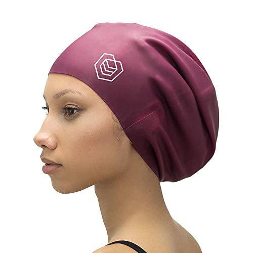 SOUL CAP XL – Extra grote badmuts/douchekap   Ontworpen voor lang haar, dreadlocks, weven, haarverlengingen, vlechten, krullen en afros   Vrouwen & mannen   Silicone