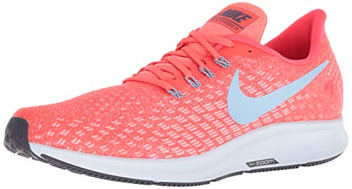 Nike Men's Air Zoom Pegasus 35 Bright Crimson/Ice Blue - Sail Ankle-High Mesh Running Shoe 9.5M