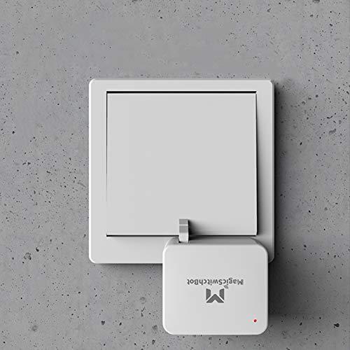 JINQII Interruptor inalámbrico Bluetooth pulsador de botón de rotación de 120° interruptor inteligente interruptor de control de acceso cargable Bot compatible con varios interruptores para oficina en casa
