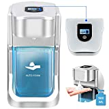 bealy 500ml Automatic Soap Dispenser Touchless Foam Soap/Foam Hand Sanitizer Dispenser Stand/Wall Mount Commercial Soap Dispenser Automatic Foaming Hand Soap Dispenser for Bathroom&Workplaces