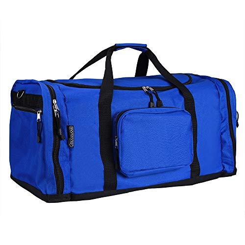 monzana Sporttasche Reisetasche Tasche | 70 cm | 95 Liter Volumen | Schultergurt abnehmbar und verstellbar | blau - Reisekoffer Koffer