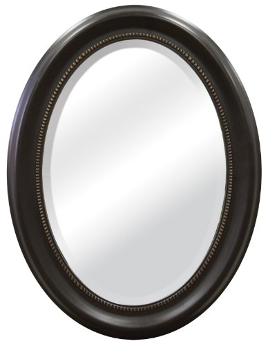 MCS Beaded Oval Wall Mirror, 22.5 x 29.5 Inch, Bronze