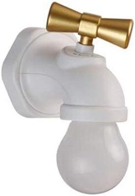 LED Night Light Faucet Tap Shape Voice Induction Lamp USB Type Corridor Aisle SZ